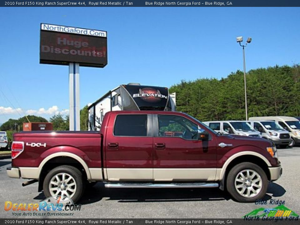 2010 Ford F150 King Ranch SuperCrew 4x4 Royal Red Metallic / Tan Photo #7