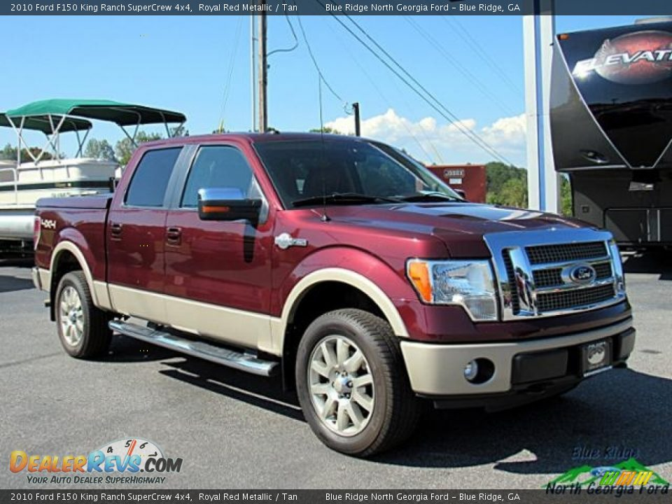 2010 Ford F150 King Ranch SuperCrew 4x4 Royal Red Metallic / Tan Photo #8