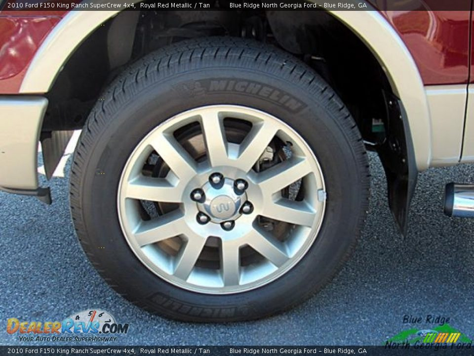 2010 Ford F150 King Ranch SuperCrew 4x4 Royal Red Metallic / Tan Photo #9