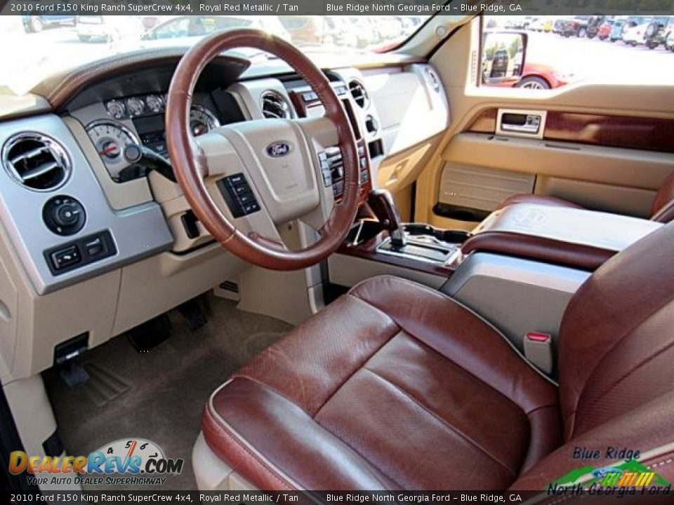 2010 Ford F150 King Ranch SuperCrew 4x4 Royal Red Metallic / Tan Photo #10