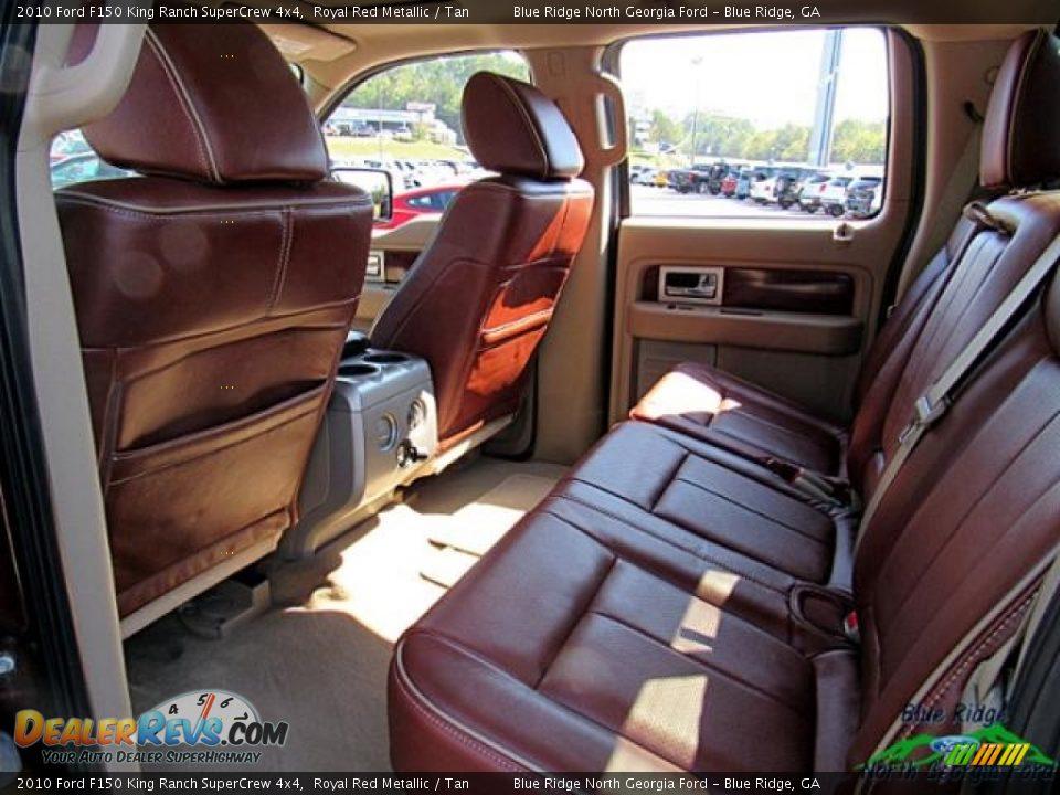 2010 Ford F150 King Ranch SuperCrew 4x4 Royal Red Metallic / Tan Photo #14