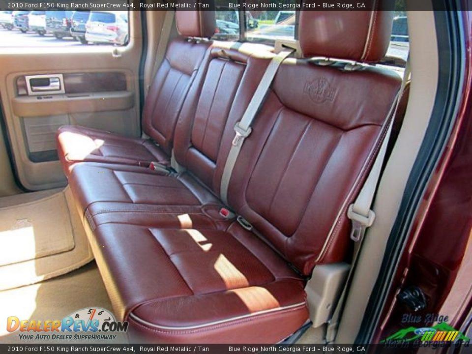 2010 Ford F150 King Ranch SuperCrew 4x4 Royal Red Metallic / Tan Photo #15