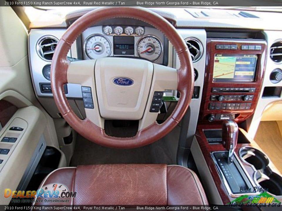 2010 Ford F150 King Ranch SuperCrew 4x4 Royal Red Metallic / Tan Photo #17