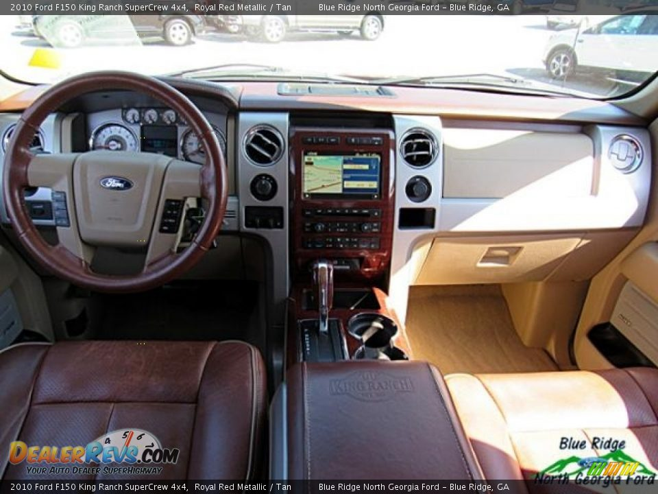 2010 Ford F150 King Ranch SuperCrew 4x4 Royal Red Metallic / Tan Photo #18