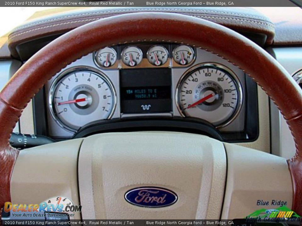 2010 Ford F150 King Ranch SuperCrew 4x4 Royal Red Metallic / Tan Photo #19