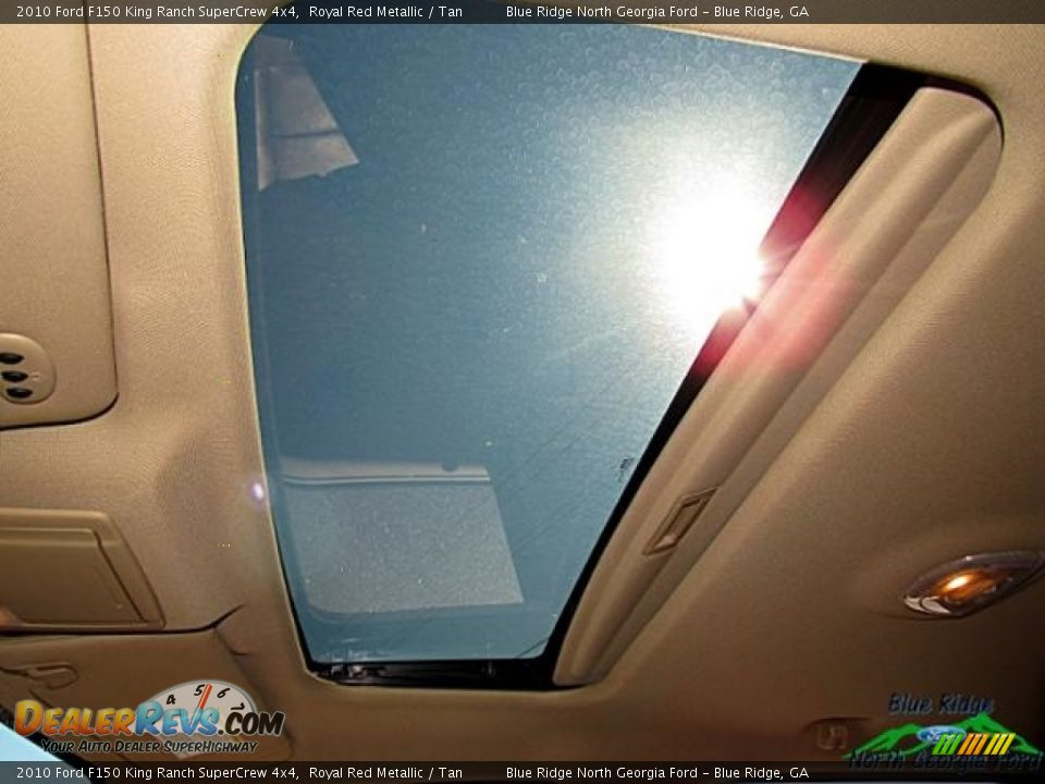 2010 Ford F150 King Ranch SuperCrew 4x4 Royal Red Metallic / Tan Photo #27