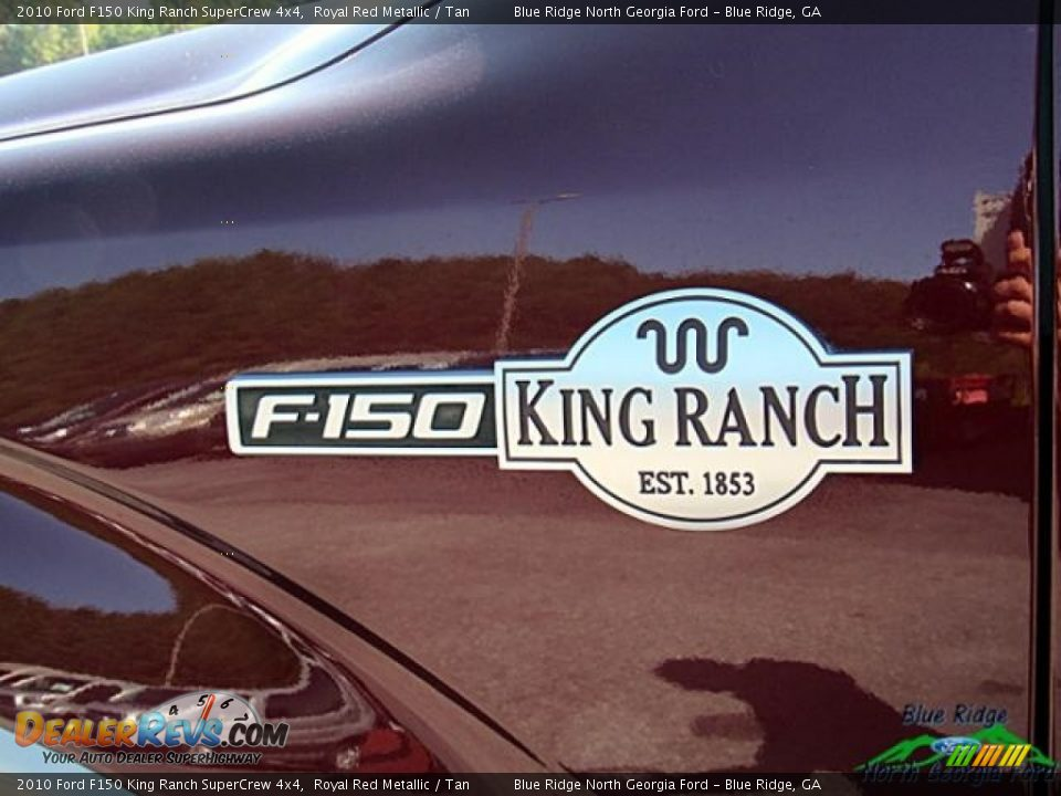 2010 Ford F150 King Ranch SuperCrew 4x4 Royal Red Metallic / Tan Photo #29