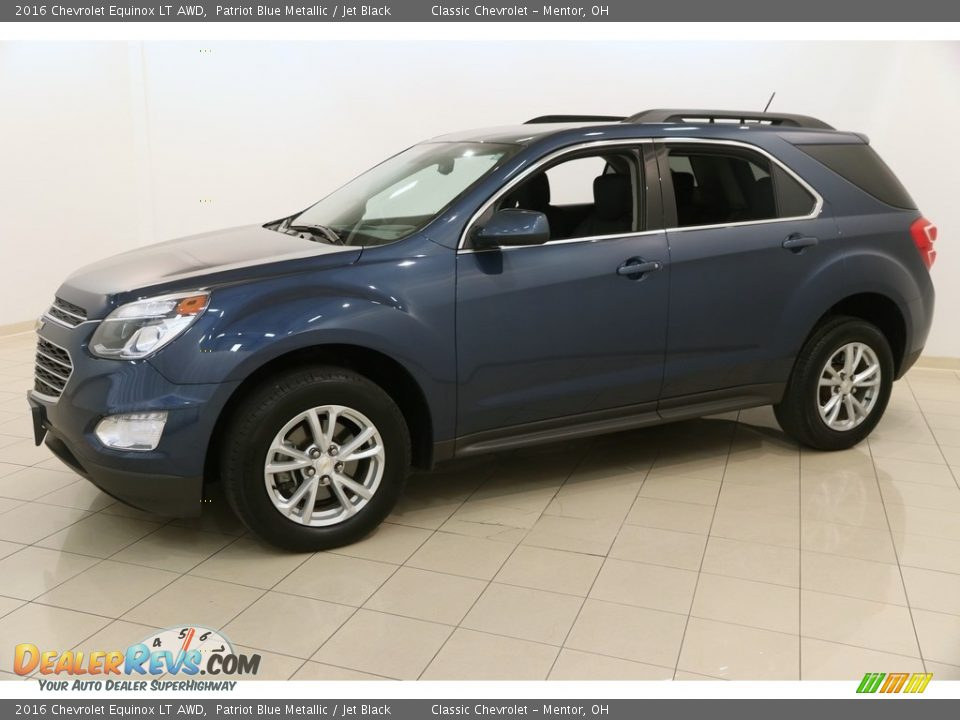 2016 Chevrolet Equinox LT AWD Patriot Blue Metallic / Jet Black Photo #3
