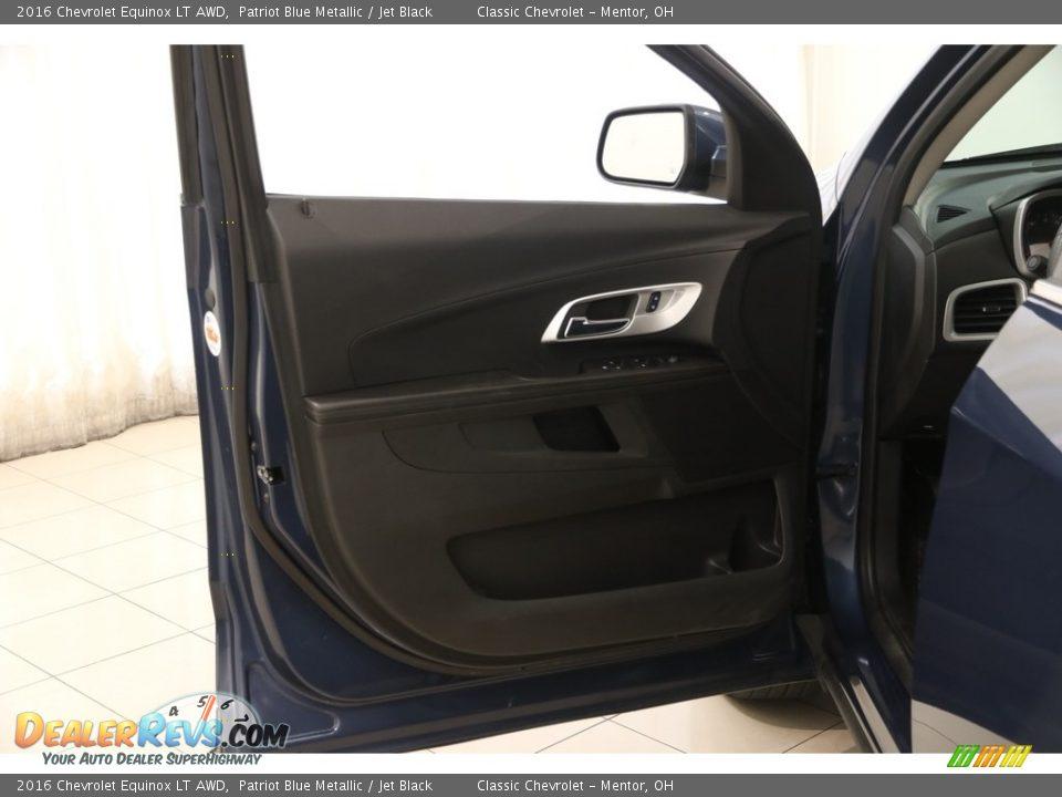 2016 Chevrolet Equinox LT AWD Patriot Blue Metallic / Jet Black Photo #4