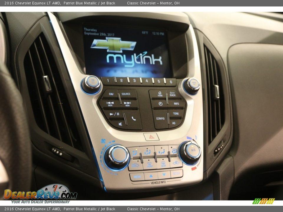 2016 Chevrolet Equinox LT AWD Patriot Blue Metallic / Jet Black Photo #8