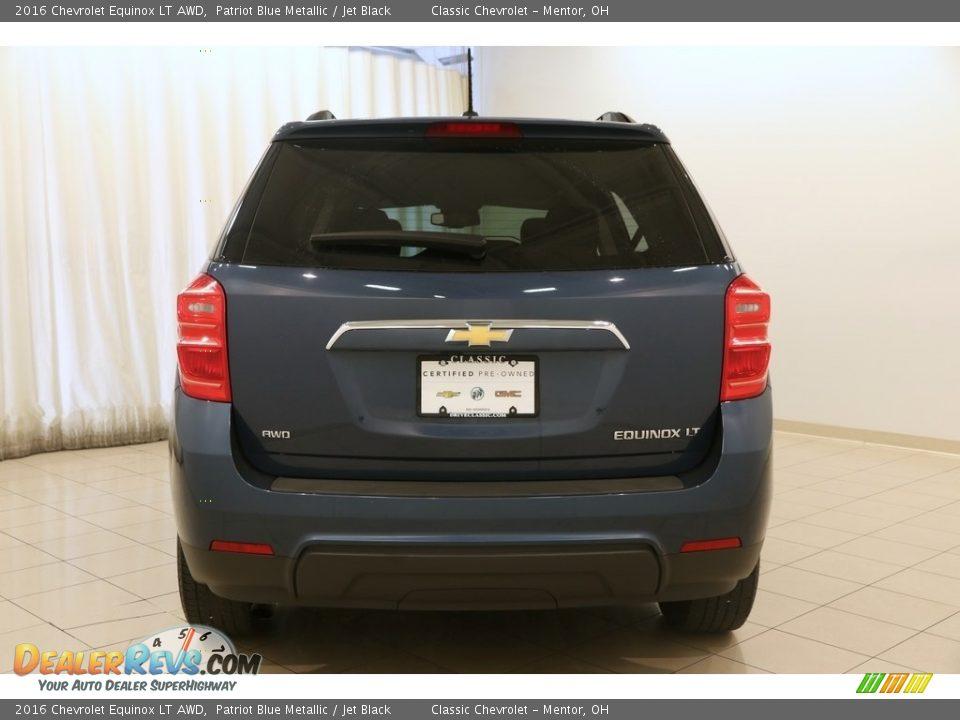 2016 Chevrolet Equinox LT AWD Patriot Blue Metallic / Jet Black Photo #15