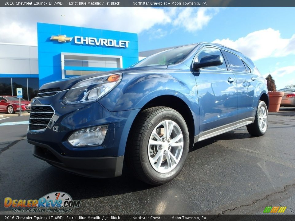 2016 Chevrolet Equinox LT AWD Patriot Blue Metallic / Jet Black Photo #2