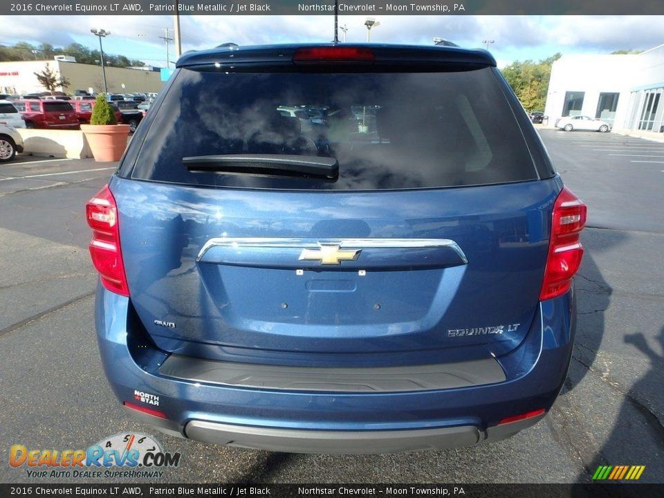 2016 Chevrolet Equinox LT AWD Patriot Blue Metallic / Jet Black Photo #6