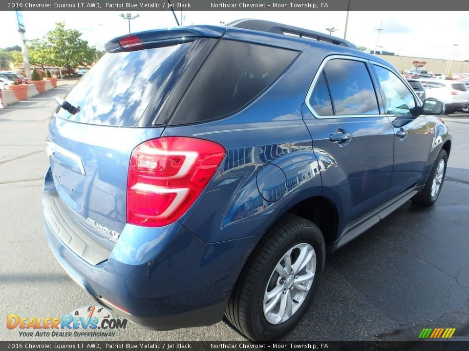 2016 Chevrolet Equinox LT AWD Patriot Blue Metallic / Jet Black Photo #8