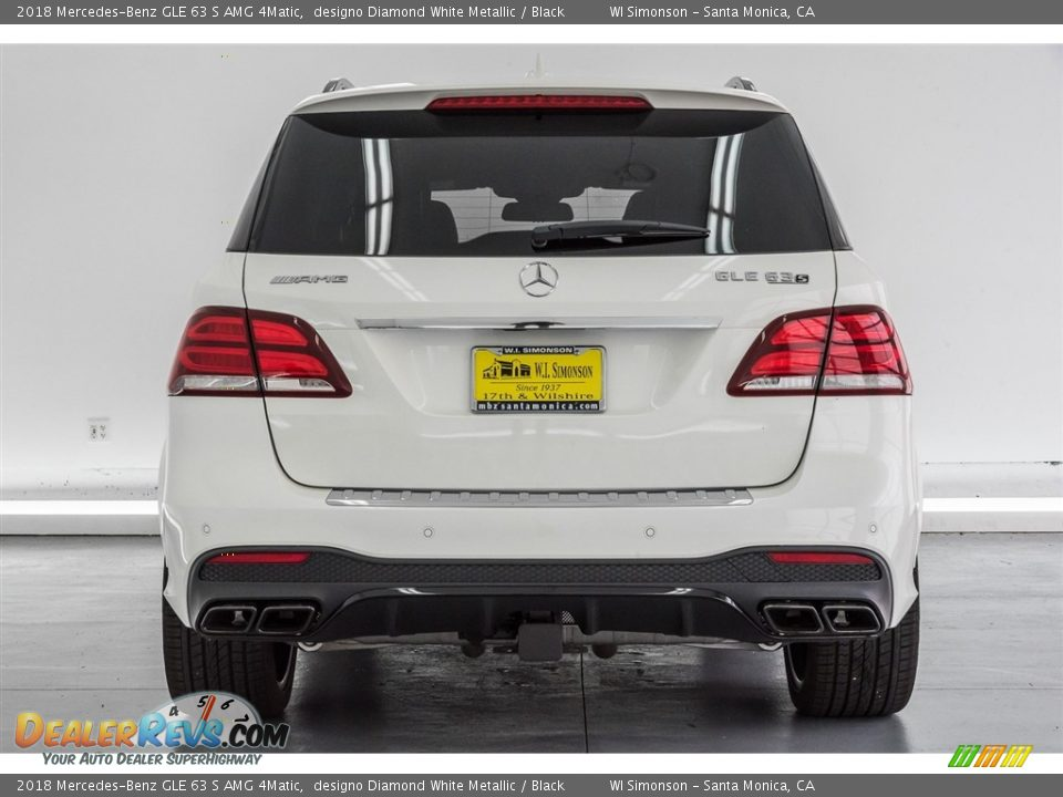 2018 Mercedes-Benz GLE 63 S AMG 4Matic designo Diamond White Metallic / Black Photo #4