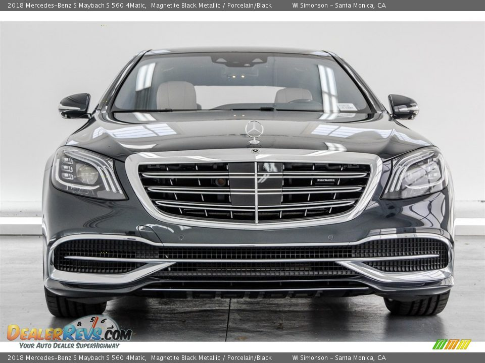 2018 Mercedes-Benz S Maybach S 560 4Matic Magnetite Black Metallic / Porcelain/Black Photo #2