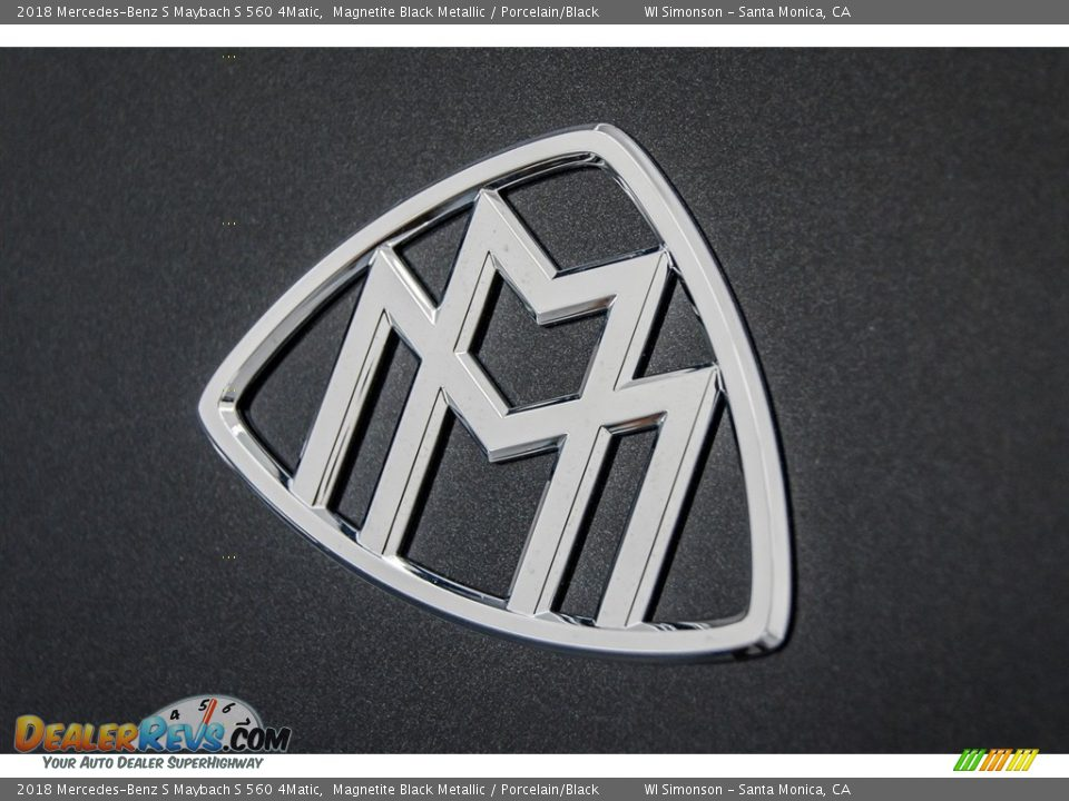2018 Mercedes-Benz S Maybach S 560 4Matic Magnetite Black Metallic / Porcelain/Black Photo #18