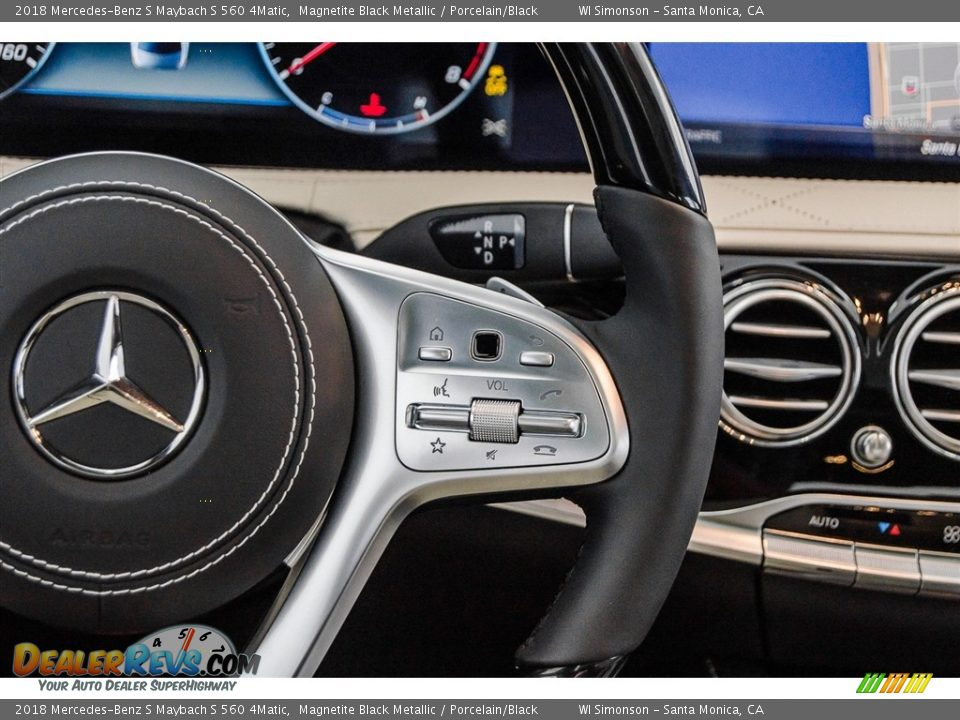2018 Mercedes-Benz S Maybach S 560 4Matic Magnetite Black Metallic / Porcelain/Black Photo #19