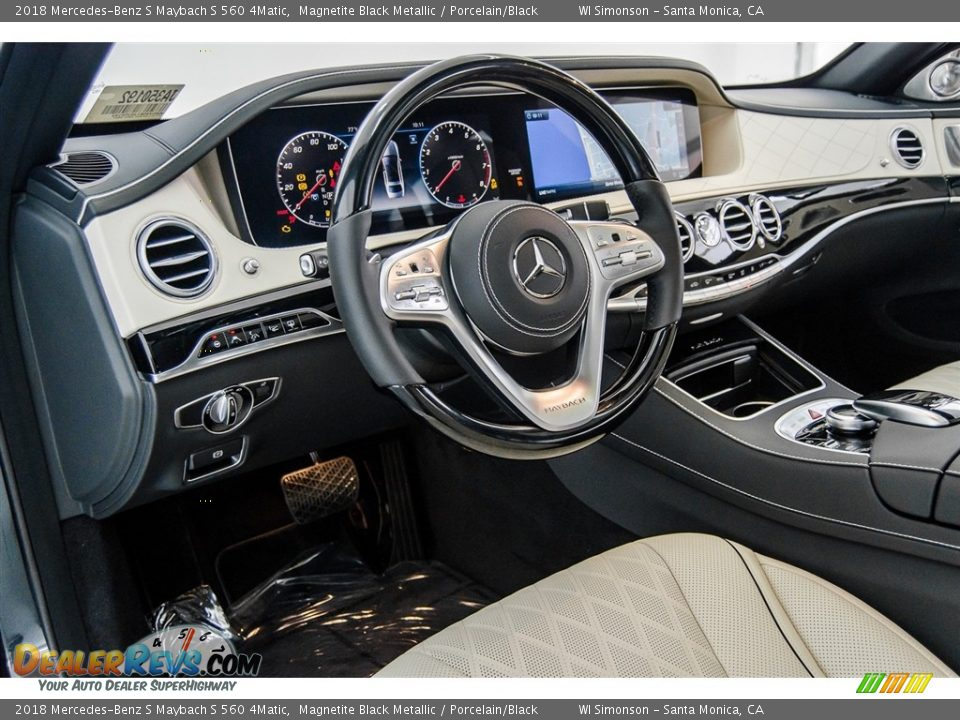 2018 Mercedes-Benz S Maybach S 560 4Matic Magnetite Black Metallic / Porcelain/Black Photo #24