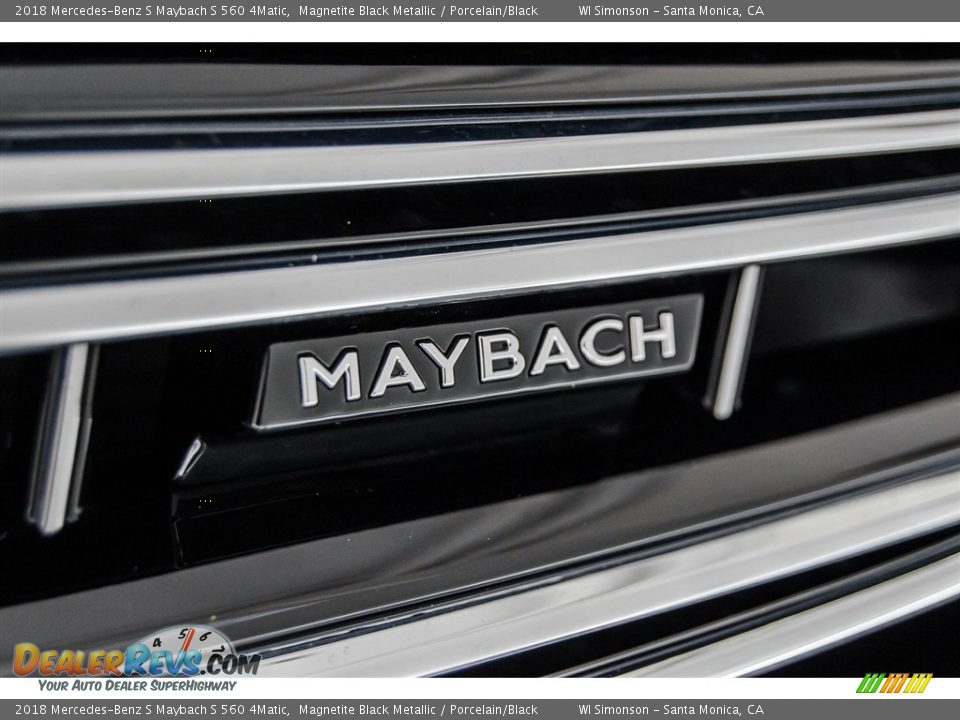 2018 Mercedes-Benz S Maybach S 560 4Matic Magnetite Black Metallic / Porcelain/Black Photo #35