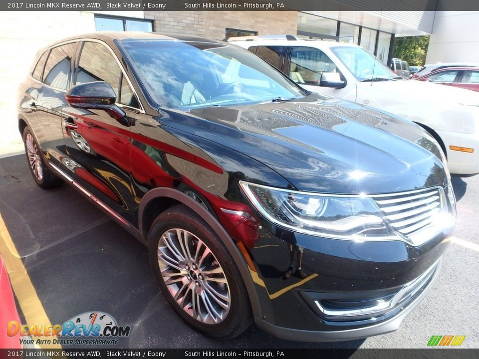 2017 Lincoln MKX Reserve AWD Black Velvet / Ebony Photo #4