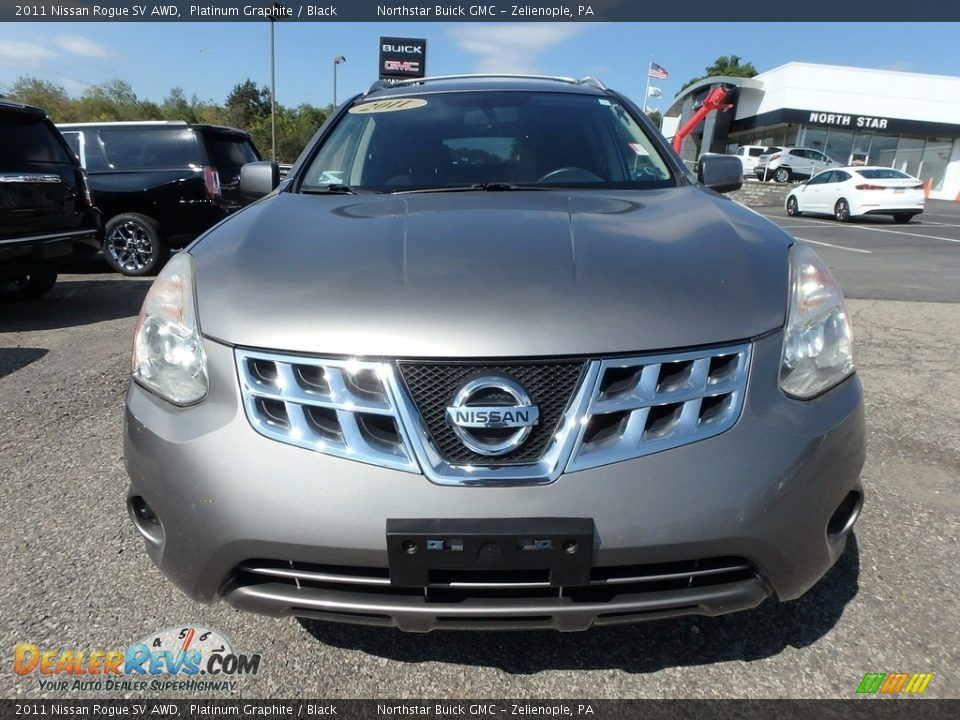 2011 Nissan Rogue SV AWD Platinum Graphite / Black Photo #3