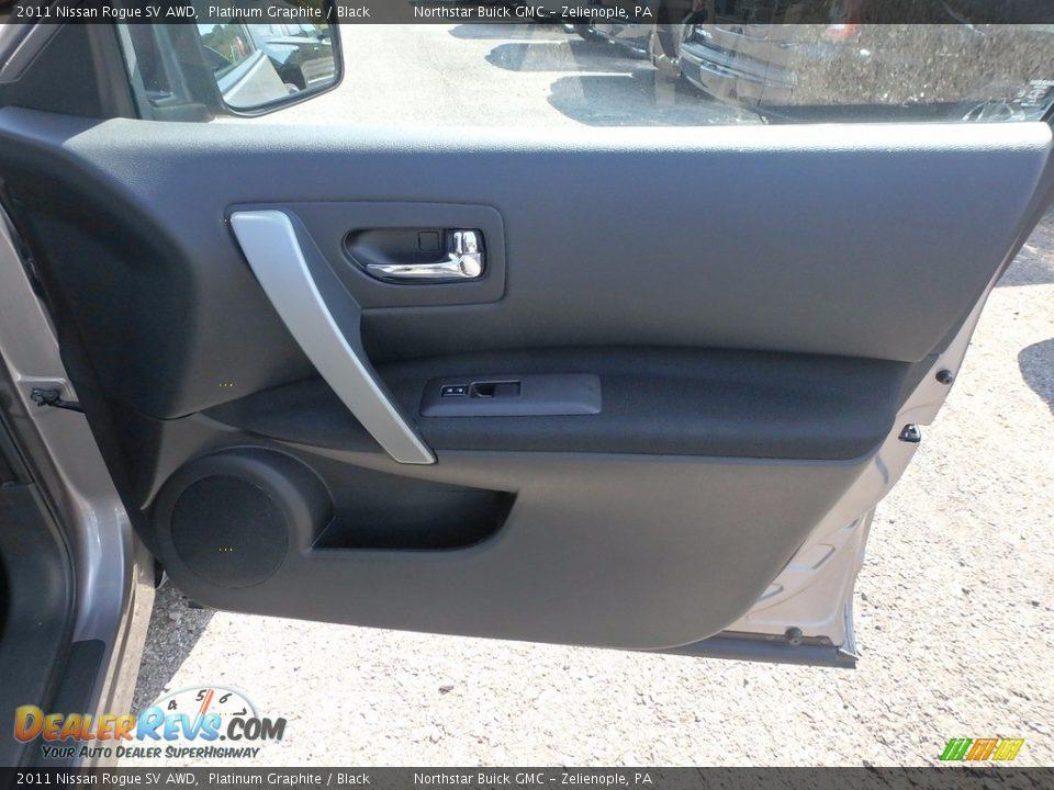 2011 Nissan Rogue SV AWD Platinum Graphite / Black Photo #7