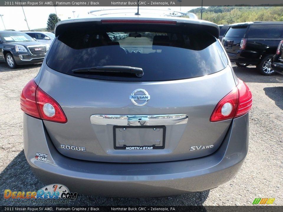2011 Nissan Rogue SV AWD Platinum Graphite / Black Photo #10