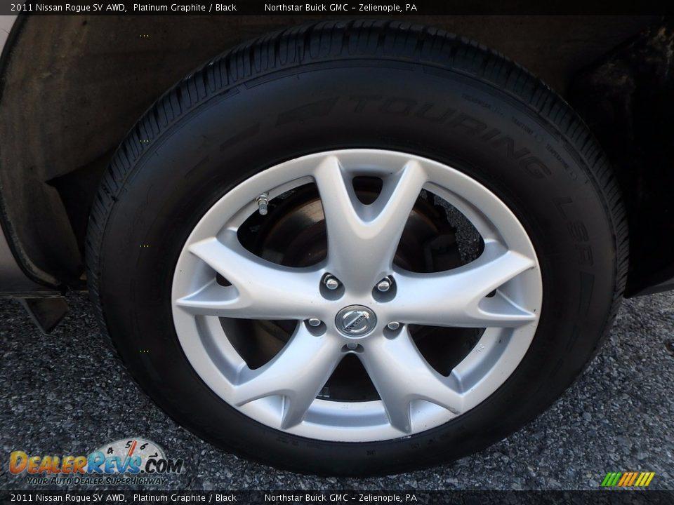 2011 Nissan Rogue SV AWD Platinum Graphite / Black Photo #14