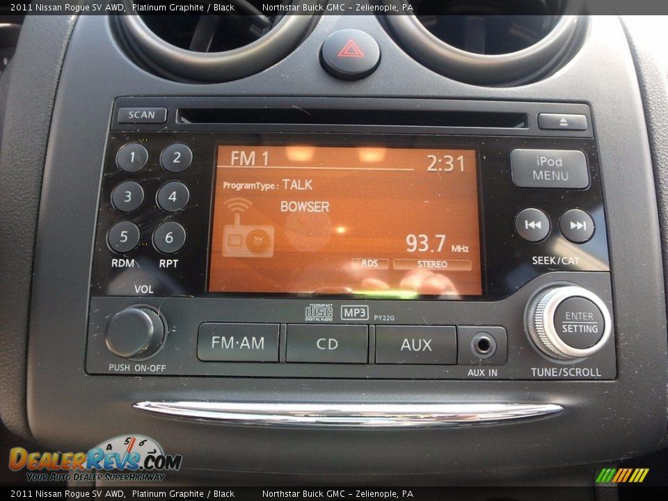 2011 Nissan Rogue SV AWD Platinum Graphite / Black Photo #27