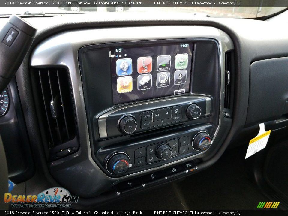 2018 Chevrolet Silverado 1500 LT Crew Cab 4x4 Graphite Metallic / Jet Black Photo #10
