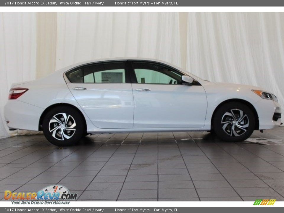 2017 Honda Accord LX Sedan White Orchid Pearl / Ivory Photo #3