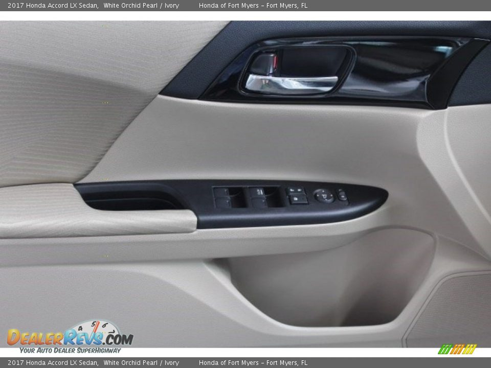 2017 Honda Accord LX Sedan White Orchid Pearl / Ivory Photo #7