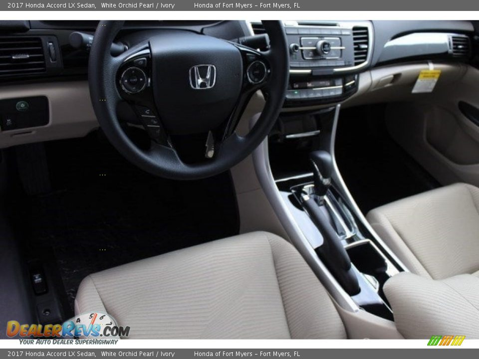 2017 Honda Accord LX Sedan White Orchid Pearl / Ivory Photo #10