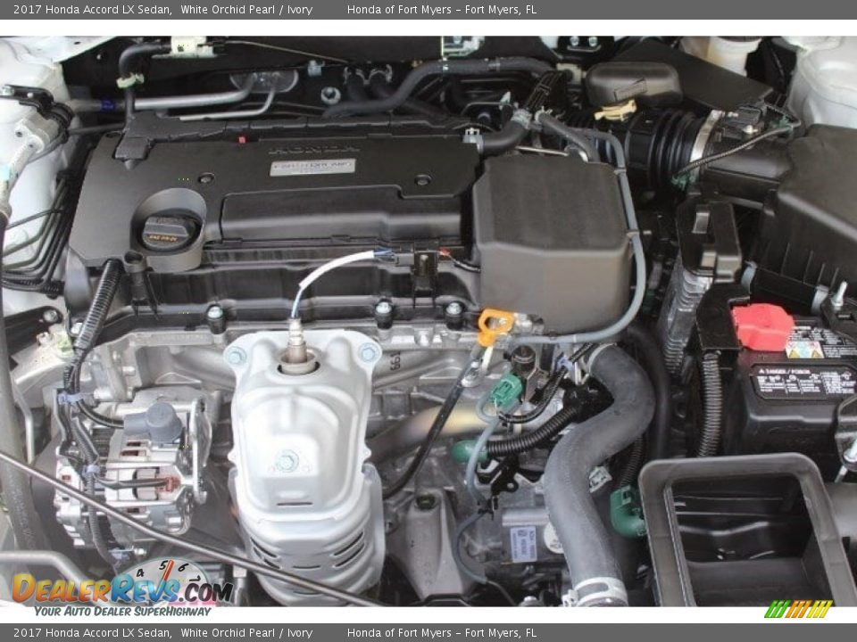 2017 Honda Accord LX Sedan White Orchid Pearl / Ivory Photo #27
