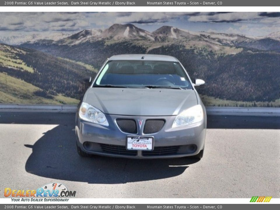2008 Pontiac G6 Value Leader Sedan Dark Steel Gray Metallic / Ebony Black Photo #4