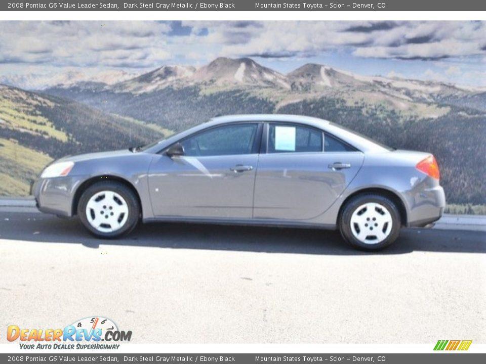 2008 Pontiac G6 Value Leader Sedan Dark Steel Gray Metallic / Ebony Black Photo #7