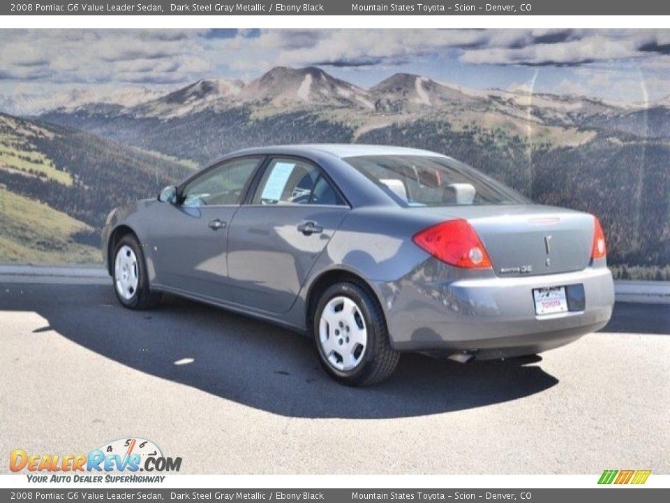2008 Pontiac G6 Value Leader Sedan Dark Steel Gray Metallic / Ebony Black Photo #8