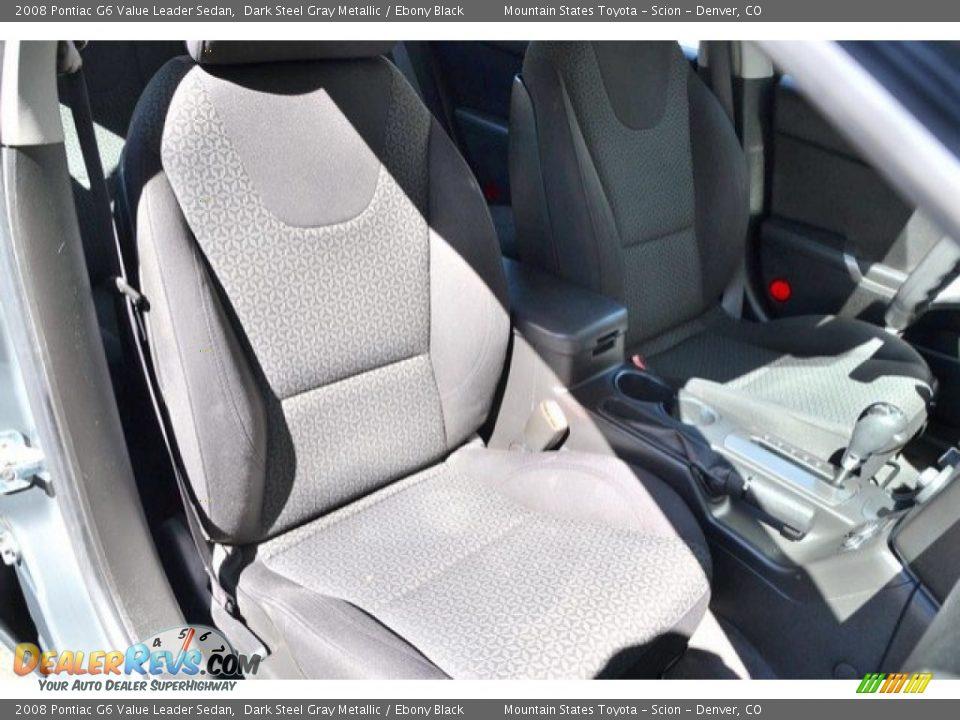 2008 Pontiac G6 Value Leader Sedan Dark Steel Gray Metallic / Ebony Black Photo #18
