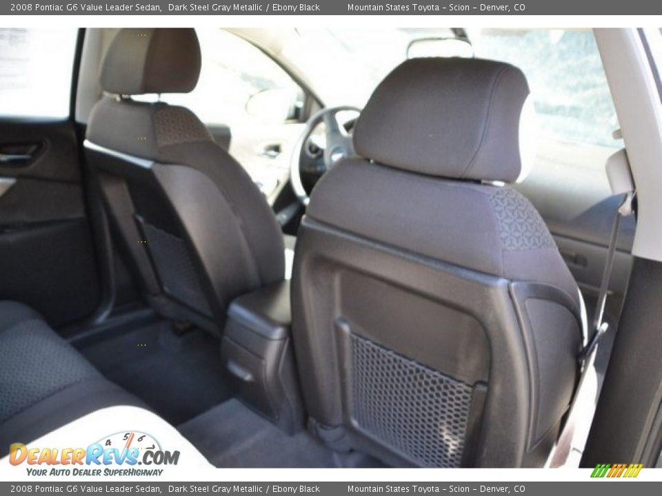 2008 Pontiac G6 Value Leader Sedan Dark Steel Gray Metallic / Ebony Black Photo #21