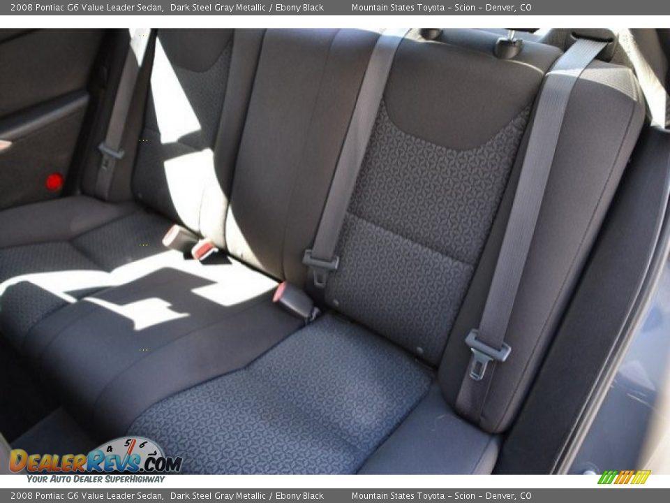 2008 Pontiac G6 Value Leader Sedan Dark Steel Gray Metallic / Ebony Black Photo #22