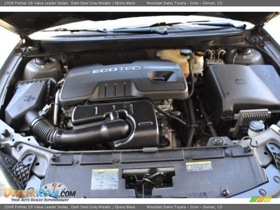 2008 Pontiac G6 Value Leader Sedan Dark Steel Gray Metallic / Ebony Black Photo #27