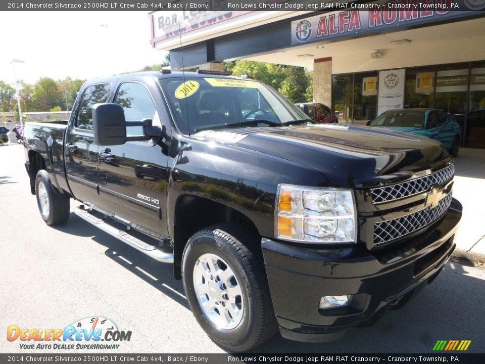 2014 Chevrolet Silverado 2500HD LT Crew Cab 4x4 Black / Ebony Photo #3