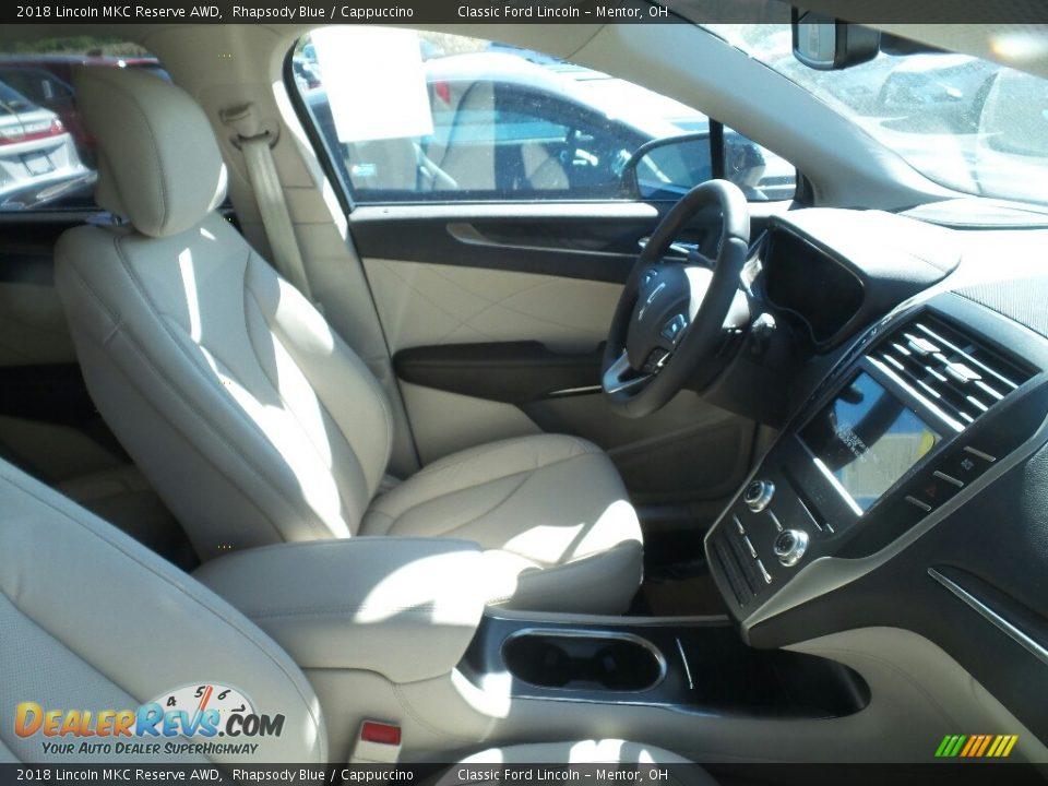 2018 Lincoln MKC Reserve AWD Rhapsody Blue / Cappuccino Photo #3