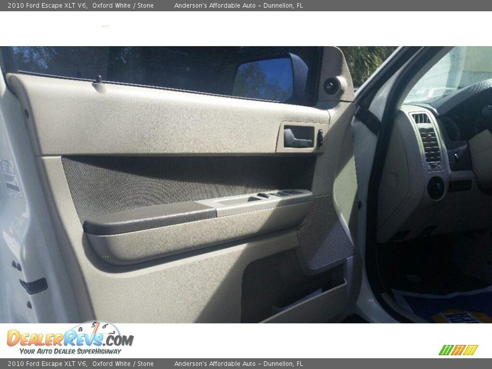 2010 Ford Escape XLT V6 Oxford White / Stone Photo #9