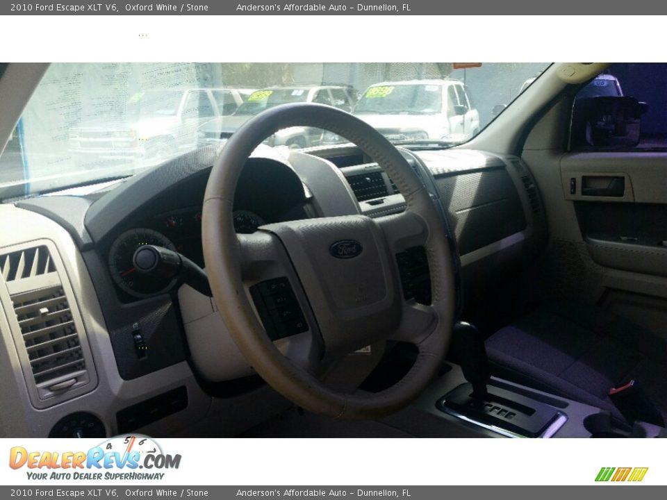 2010 Ford Escape XLT V6 Oxford White / Stone Photo #11