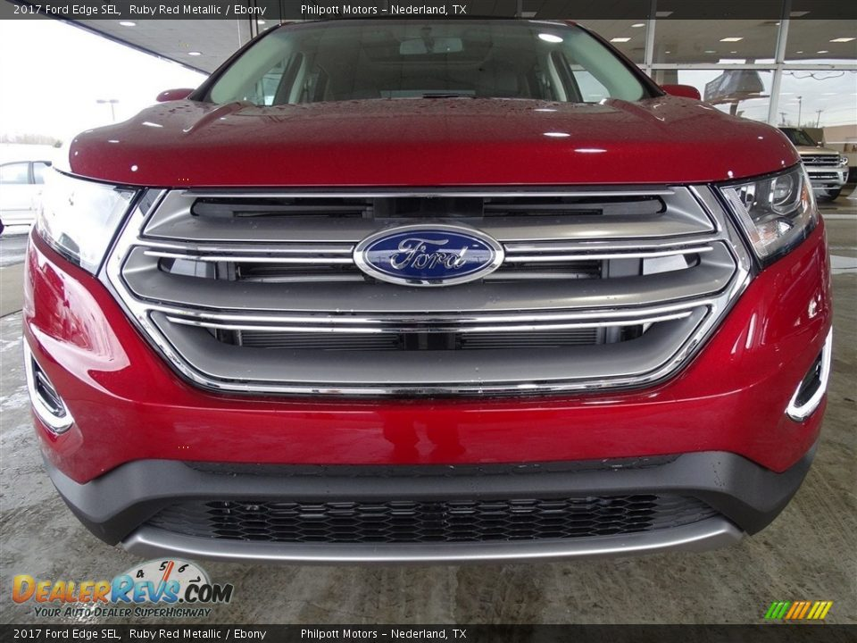 2017 Ford Edge SEL Ruby Red Metallic / Ebony Photo #8