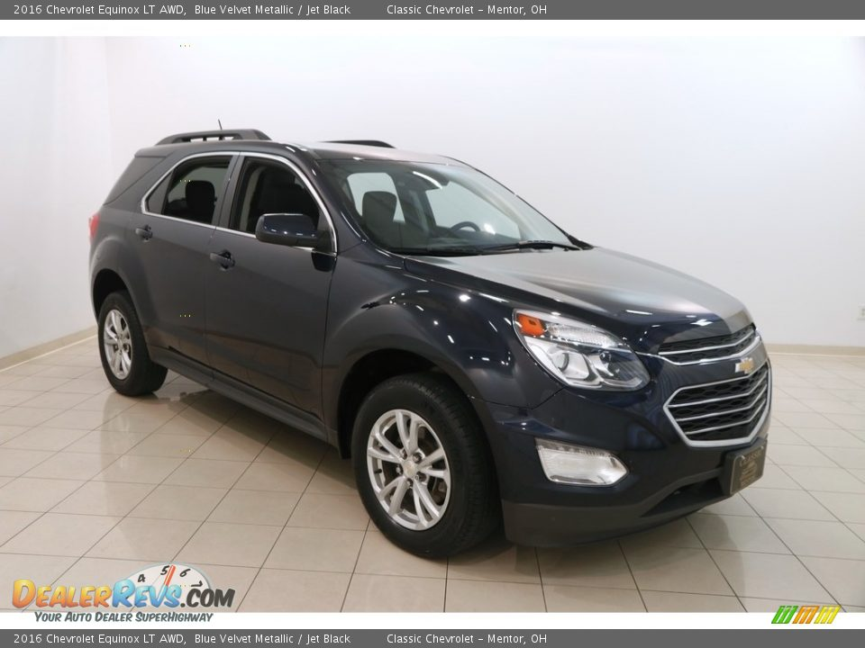 2016 Chevrolet Equinox LT AWD Blue Velvet Metallic / Jet Black Photo #1
