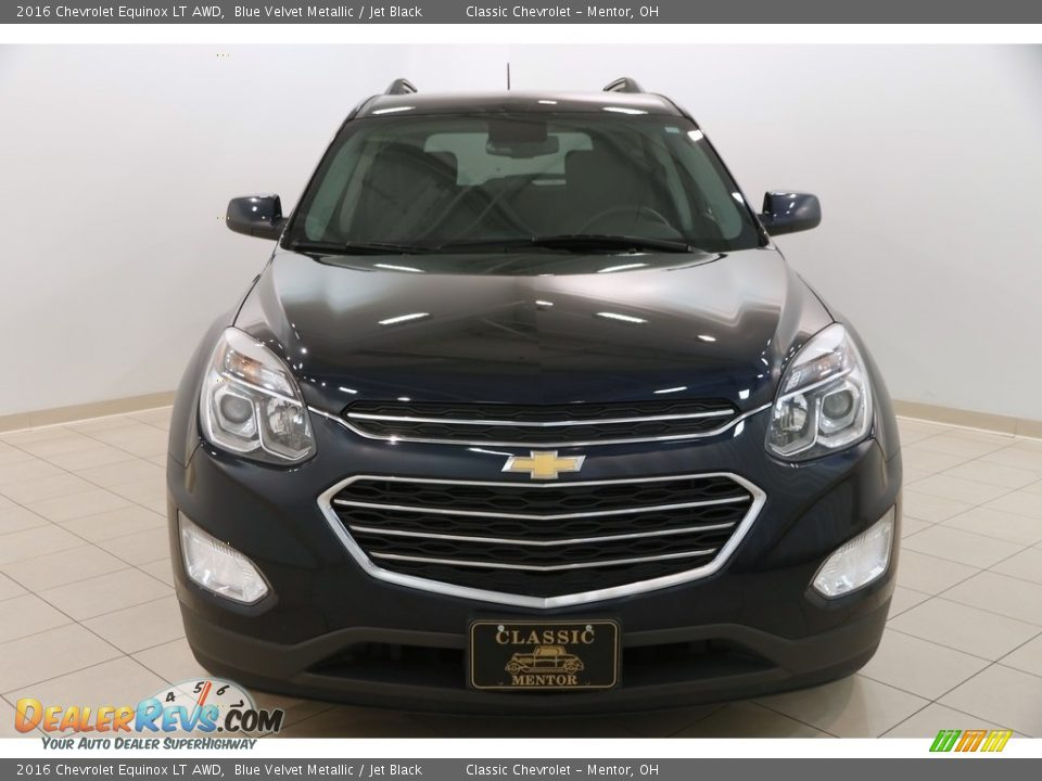 2016 Chevrolet Equinox LT AWD Blue Velvet Metallic / Jet Black Photo #2