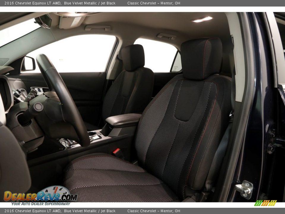 2016 Chevrolet Equinox LT AWD Blue Velvet Metallic / Jet Black Photo #5